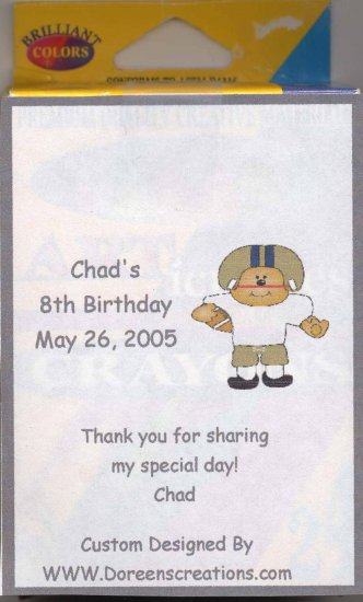 BIRTHDAY PERSONALIZED CRAYON LABEL FREE SHIPPING