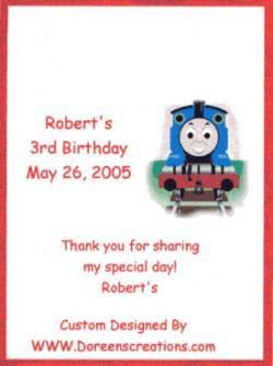Thomas Crayon Label Personalized Free Shipping