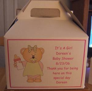Baby Shower Gable Box Personalized Free Ship