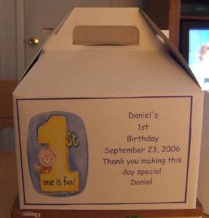 Birthday Gable Box Personalized Free Ship