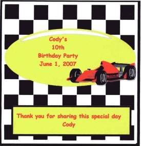 Racecar Hershey 1.55 oz Free Shipping