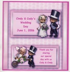 Wedding Couple Hershey 1.55 0z Free Shipping