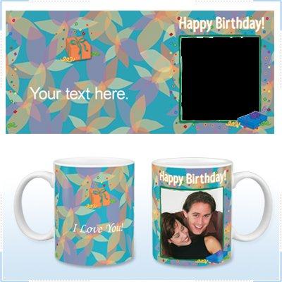 11oz White Ceramic Mug - Birthday