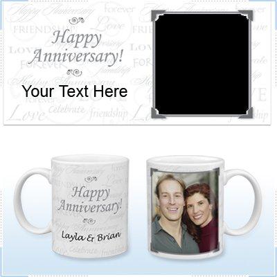11oz White Ceramic Mug - Anniversary