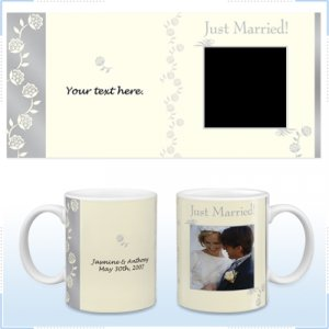 11oz White Ceramic Mug - Wedding