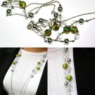 Green Bead Double Layer Necklace BN_011