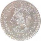 1948 Mexico CINCO PESOS - AZTEC INDIAN CHIEF CUAUHTEMOC