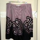 Peter Nygard Women Silk Mauve Black Skirt Size 14 $198