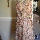 Dressbarn Brown Peach Multi Women Summer Dress Size 16