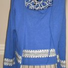 Sydney Easton Women Blue 2 Pc Sweater Twinset Large
