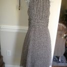 Connected Apparel Brown White Summer Dress SIzE 14  NEW