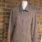 DANA BUCHMAN Black Label Made in ITALY Jacket Size 8 M Women Wool Blazer Zip