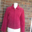 COLDWATER CREEK 100% Leather Suede Zip Jacket Size S NEW Women Red