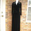 TALBOTS 2 Pc Cocktail Evening Top Skirt Set 8 Size NEW Women Black Outfit Formal