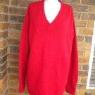 LAUREN RALPH LAUREN Red Women Heavy Sweater Size XL 1X Pullover V Neck
