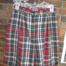 Talbots Women Plaid 100% Cotton Walking Shorts 8 M