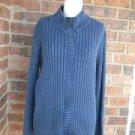 COLDWATER CREEK Women Blue Zip Cardigan Size L Large