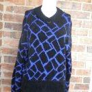 ST JOHN Sportswear Blue/Black Pullover Sweater Size S