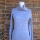 J CREW Women 100% Merino Wool Ribbed Turtleneck Sweater Top Size S Purple