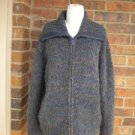 CHICO'S Women Zip Cardigan Sweater Size 2 L 12/14 Acrylic Wool Mohair Blend Top