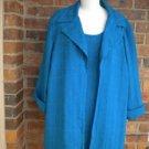 RUSSELL KEMP Woman 2 PC Blouse Tank Top Twin Set Size 1X Blue Shirt