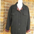 CHICO'S Women Black /Paisley Jacquard Jacket Coat Size 2 L 12 / 14 Pockets