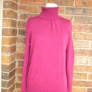 TALBOTS Women Turtleneck Sweater Size M 100% Pima Cotton Top NEW