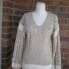 LILLIE RUBIN Women Hand Knit Rayon Wool Mohair Blend Sweater Size M Vintage