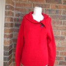 TALBOTS Women Viscose Lambs Wool Blend Sweater Top Size M Red