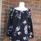 WHITE HOUSE BLACK MARKET Women 100% Silk Blouse Shirt Top Size XS S Drawstring