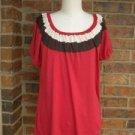 ELLA MOSS Women Color Block Rayon Blend Top Shirt Size S
