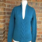 BANANA REPUBLIC Women Blue Sweater Size S Lambs Wool Cashmere Blend