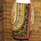 BANANA REPUBLIC 100% Silk Flags Medallion Wrap Skirt Size 4