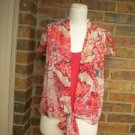 DIANE Von FURSTENBURG Women 100% Silk 2 Pc Blouse Twin Set Size 4 S Sequin