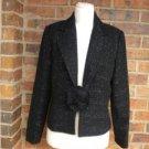 WHITE HOUSE BLACK MARKET Women Blazer Jacket Size 10 Lined Metallic