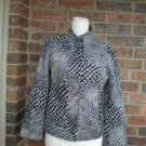 ARMANI Collezioni Women Animal Print Jacket Top Size 8 / 42 M Black/Ivory