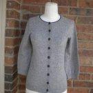 BODEN Cardigan Sweater Size UK 10 S Women Cotton Viscose Cashmere Angora Blend
