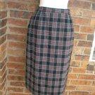 PENDLETON Vintage Plaid Tartan 100% Virgin Wool Skirt 10 Size Women Winter