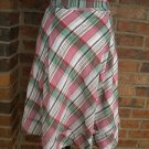 H&M Women Plaid Double Pleat Front Lined Summer Skirt Size US / FR 10 EUR 40