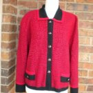 DYLANI Women Cardigan Sweater Size XL Red/Black Top