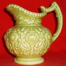 "Camark Decorative Moss Green Pitcher 132C 6"" tall"