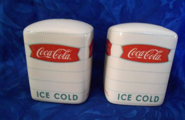 Coca-Cola Salt & Pepper Shakers by Gibson