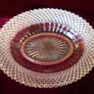 "Depression Glass 10 1/2"" Oval Serving Dish Miss America"