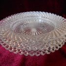 Depression Glass 3 Saucers Miss America Diamond Pattern