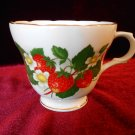 Tea Cup Bone China London Collection Strawberry Design