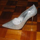 Sparkling Silver Stiletto Pumps - Grab the Attention - 13