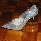 Sparkling Silver Stiletto Pumps - Grab the Attention - 13