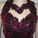 Fuschia Liquid Sequins Gown by Alyce - Great for Stage