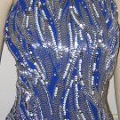 Bella Diosa Royal Blue with Silver Sequins Gown