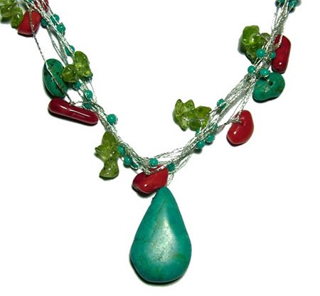 DJN125  Turquoise Necklace